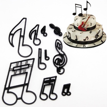 10 Style DIY Fondant Cake Decorating Molds Set Plastic Cookie Cutter Pastry Biscuit Baking Tools Music family animals balloon