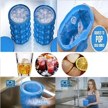 120 Grids Ice Cube Genie Cavity Silicone Tray Ice Cubes Maker as Seen on TV Space Saving Ice Cube Maker Ice Genie