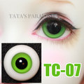 Glass eyes black pupil Eyeballs  BJD Eyes for 14mm 16mm 18mm Ball-jointed Doll [TC-07]