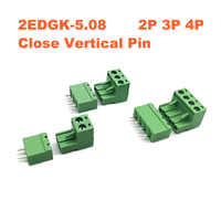 Pitch 5.08mm 2P 3P 4P Screw Plug-in PCB Terminal Block 2EDGK 2EDGVC Close Straight Pin male/female Pluggable Connector 15A