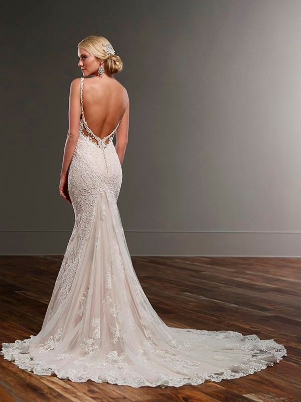 Vestido De Noiva New Mermaid Lace Wedding Dresses Sweetheart Open Back Spaghetti Straps White Mermaid Bride Dresses Casamento 6