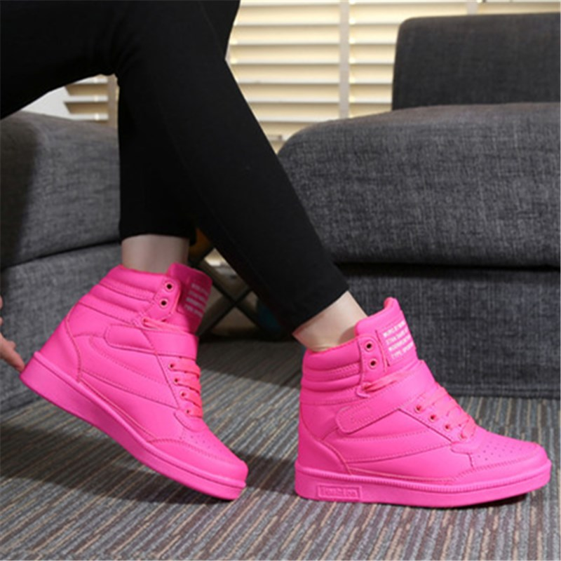 Women shoes spring autumn comfortable black white pink outdoor anti-skid sneakers joggin ...
