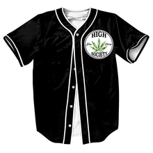 Mens Black 3D Shirts Casual With Button Overshirt High Society Jersey Streetwear Baseball Jersey Hip Hop