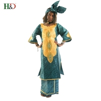 New Fashion Design Traditional Bazin Three Piece Africa Women S Clothing Cotton Embroidered 7 Minutes Of