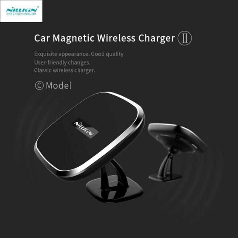 Nillkin Car Magnetic Qi Wireless Charger II C Mobile Phone stand Car Holder for Samsung S7 S8 Edge for iPhone 7 7Plus 6 6 plus