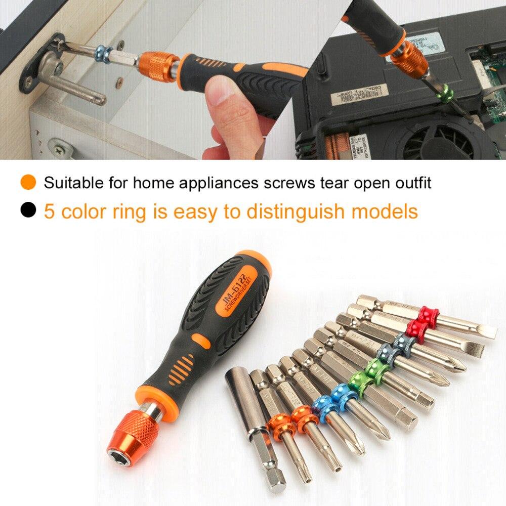 Купить с кэшбэком 22 In 1 Screwdriver Bit Set Magnet Handle Torx Hex Colorful Cell Phone Laptop Household Appliances Car Repair Hand Tool Kit