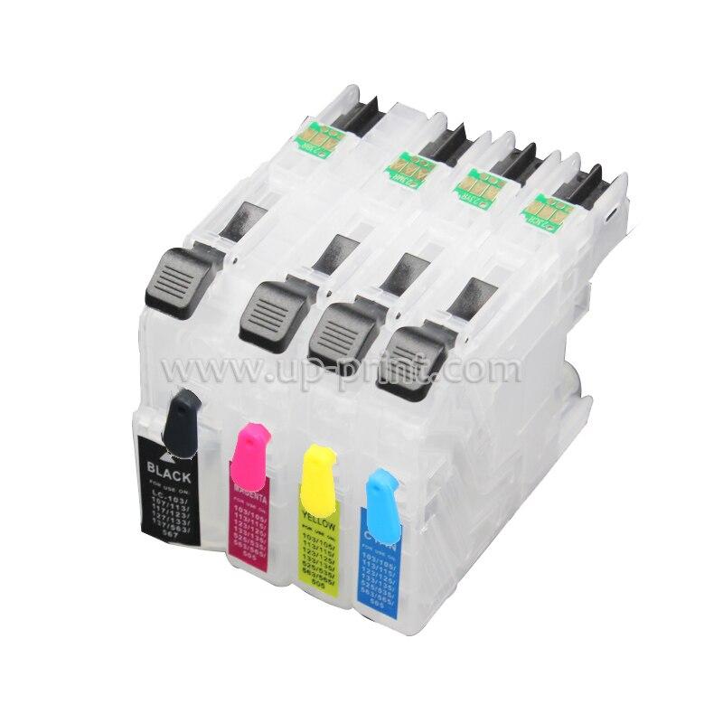 4 шт. LC121, LC123, LC125, Заправляемый картридж для чернил для Brother DCP-J132W J152W, J552W, MFC-J870DW J650DW, J470DW, J172, J752W
