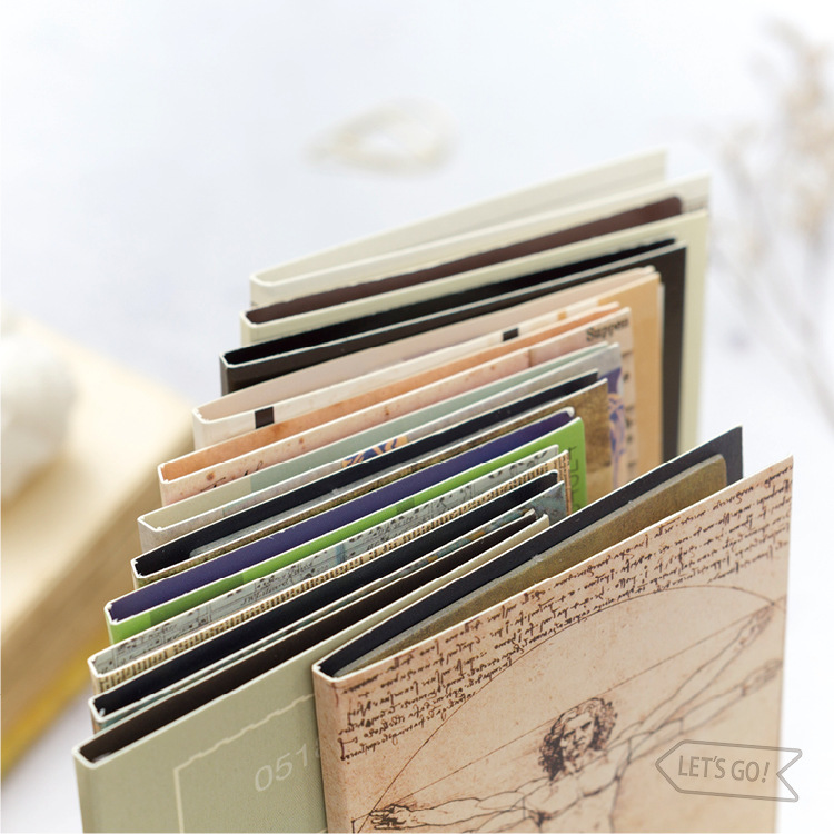 Retro travel stickers memo pad sticky notes planner notepad post it kawaii stickers scrapbooking papeterie in Memo Pads from Office School Supplies