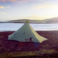 Ultralight 860g Camping Tent 4 Person Outdoor 20D Nylon Both Sides Silicon Coating Rodless Pyramid Large Tent Camping 4 Season