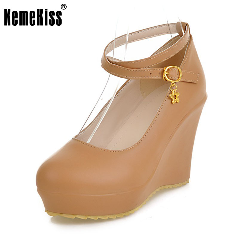 KemeKiss free shipping high heel wedge shoes platform fashion women dress sexy pumps heels P12274  hot sale EUR size 34-43 taoffen free shipping high heel shoes women sexy dress footwear fashion lady female pumps p13165 hot sale eur size 32 43