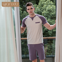 2018 Summer men 's pajamas short - sleeved Trousers Cotton men' s Household clothing suit