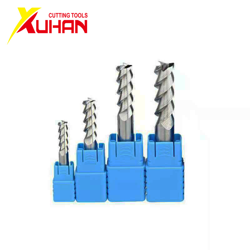 1Pcs 10mm Tungsten Carbide 3 Flute End Mill CNC Milling Cutter for Aluminum Use