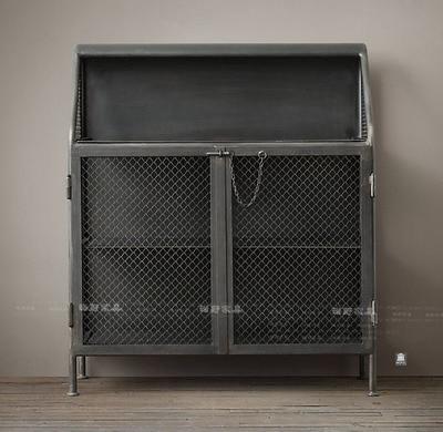 French Industrial Furniture, Old Industrial Loft Nostalgic Locker Shelves  Showcase Wine Trade Furniture