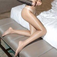 f4ddfd2fe Hot Sale 1D Ultra-thin   das Mulheres Meia-calça Transparente Super  Brilhante Brilho