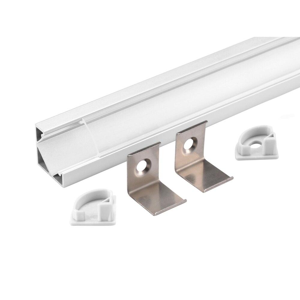 60m (30ks) hodně, 2m na kus, eloxovaný hliníkový profil pro LED světlo, tvar trojúhelníku