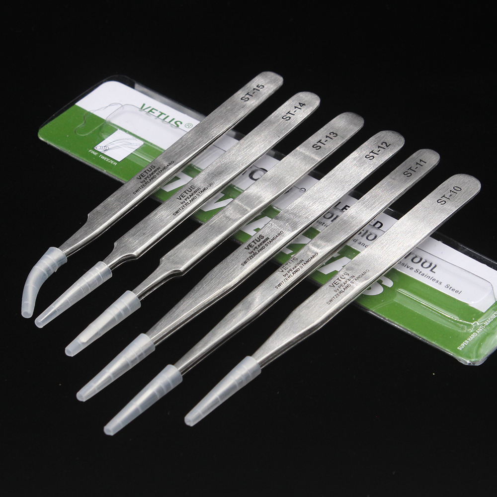 1PCS VETUS 10-15 Tainless Steel Tweezers Set Maintenance Tools Kits