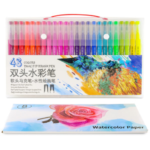 Image 4 - Dainayw 100Colors Dual Brush Markers Pen Fine Tip Drawing Painting Water inks Pens for Coloring Manga Calligraphy Graffiti