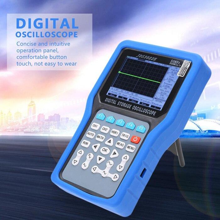 Jinhan JDS3022E осциллограф комплект ручной 2CH 50 МГц 500MSa/S цифровой осциллограф мультиметр генератор сигналов AC110 220V