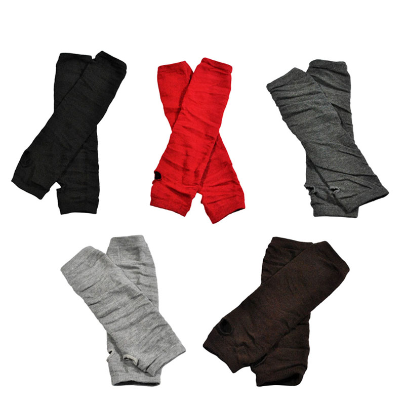 Newly 1 Pair Women Long Gloves Arm Length Keep Warm Mittens For Winter