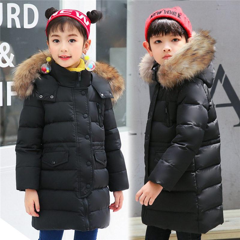 Kids Winter Jacket Boys Winter Coat Girl Down Jackets Fur Hoodies Warmly Down Parkas Child 4 6 7 8 9 10 12 14 years Kids Outfit fashion girls winter coat long down jacket for girl long parkas 6 7 8 9 10 12 13 14 children zipper outerwear winter jackets