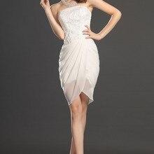 Новое милое облегающее свадебное платье без бретелек с блестками коктейльное платье