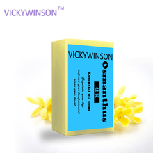 VICKYWINSON Osmanthus Essential Oil handmade Soap,anti-acne, wash soap whitening freckle, remove dark circles Bathing XZ3