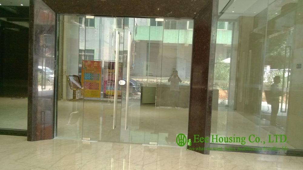 ①Personalizado puerta de cristal sin marco con 12mm templado vidrio ...