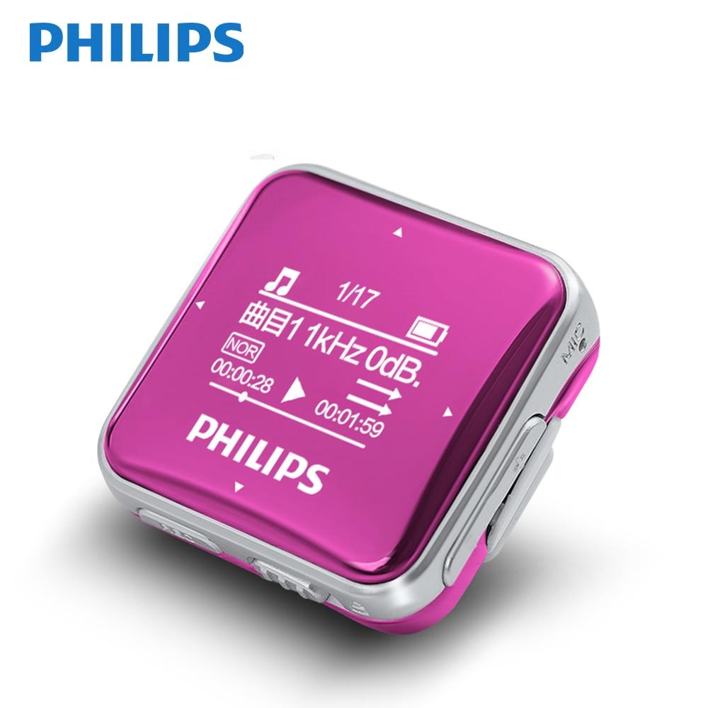 Philips Original Mini lecteur MP3 Fullsound grand écran avec fonction d'enregistrement/Radio FM courant arrière Clip musique