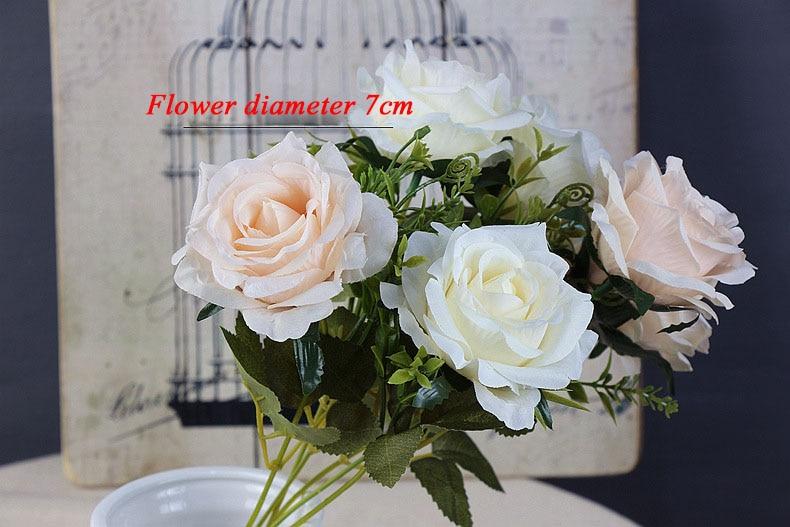 roses artificial flower bouquet wedding home decor (27)