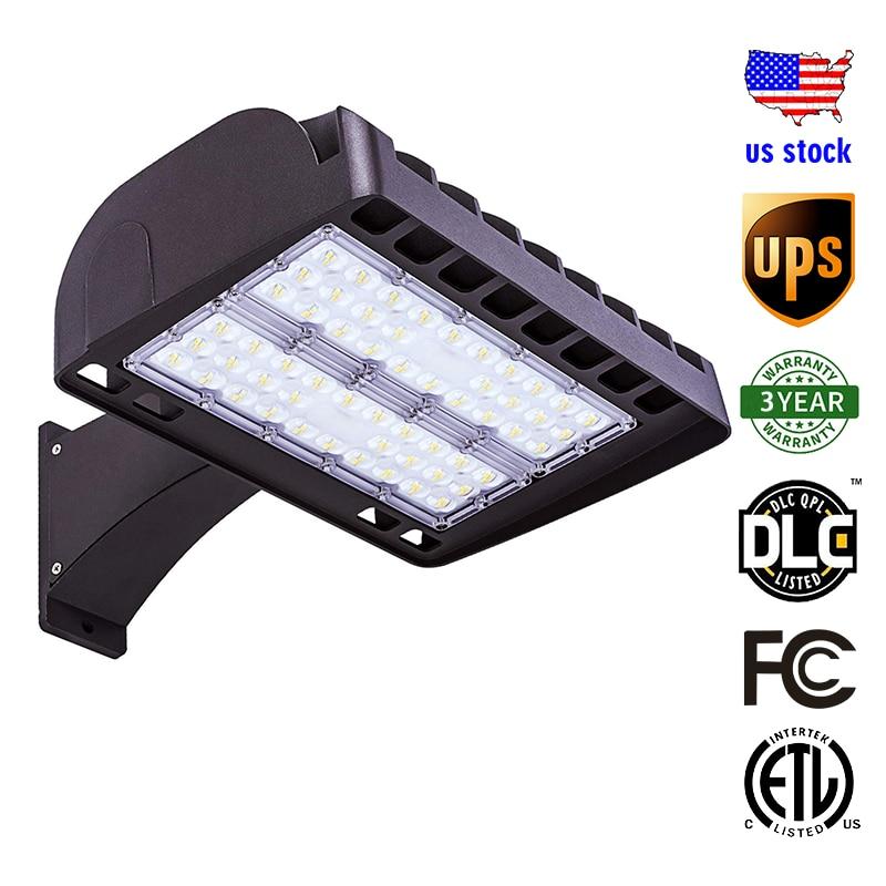 LED Parking Lot Light 200W Arm Mount Street Shoebox Area Light Fixture ETL,DLC