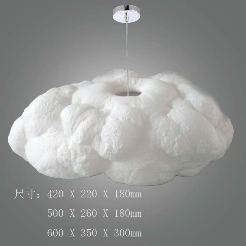 A1 modern art cloud Pendant Lights Creative decorative lamp lamp living room bedroom Hotel clubhouse silk cloud Pendant lamps fumat stained glass pendant lamps european style baroque lights for living room bedroom creative art shade led pendant lamp