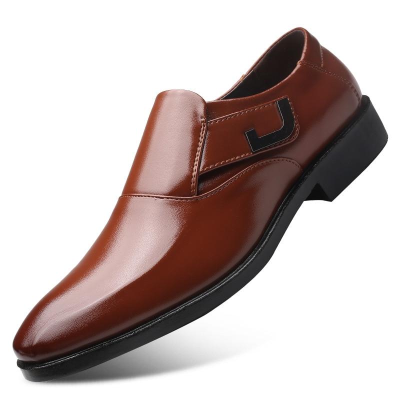 Cuir Non Bottes Haute Respirant Robe Parti De 02 01 Mariage En Hommes Mode Chaussures Adulte glissement Casual Qualité Doux wISraCqI17