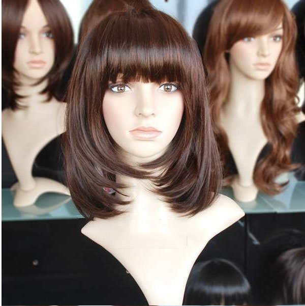 hair wigs women Dark brown face-lift wig fashion wig free shipping