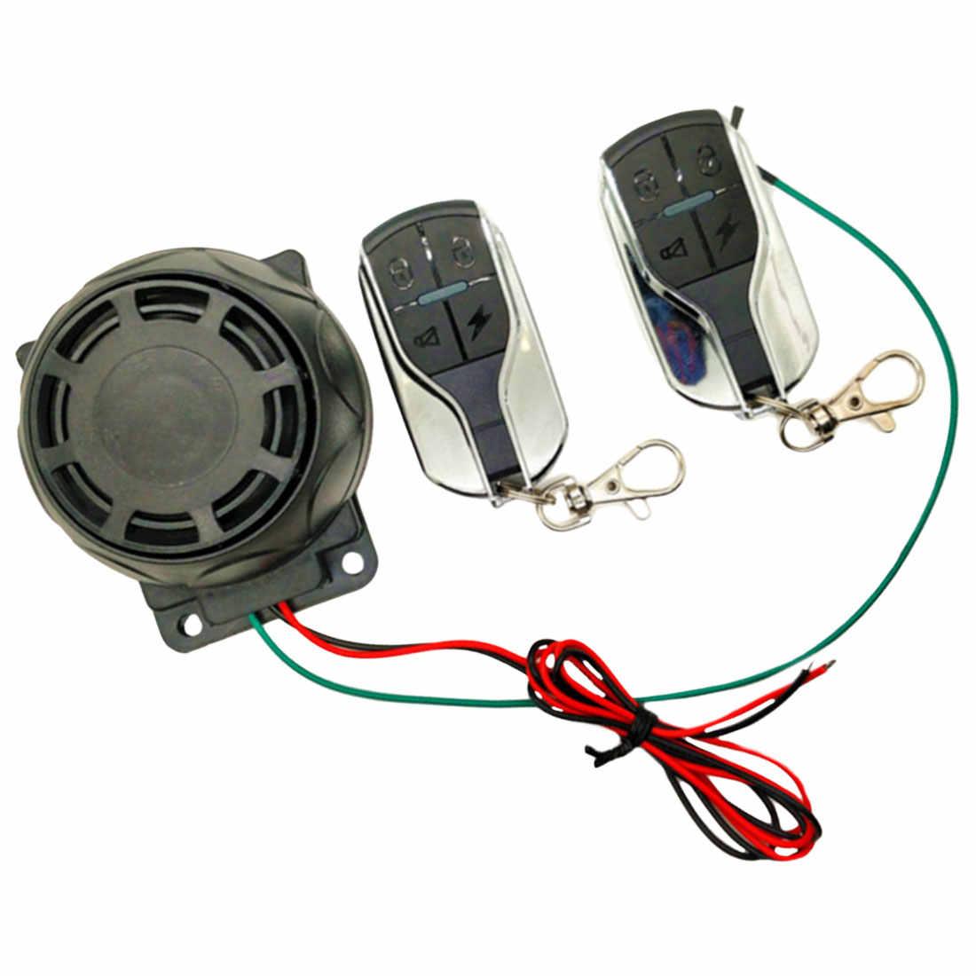 Baru Dual Remote Control Remote Control Sepeda Motor Keamanan Sistem Alarm Motor Anti-Pencurian Sepeda Moto Skuter Sistem Alarm