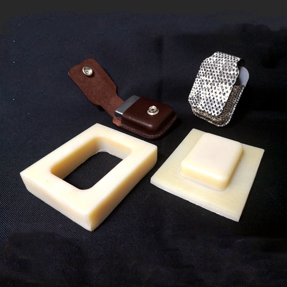 DIY Leather Craft Fire Lighter Plastic Fixed Modeling Shape Mold Send With Acylic Template For Free 75x53x25mm