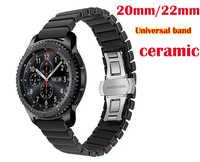 Boucle papillon bande céramique pour Samsung Galaxy montre Gear sport s2 s3 Neo Live amazfit 2 s 1 rythme bip Ticwatch E/1/2/bracelet pro