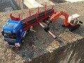 2 unids kdw ingeniería serie de aleación de coche modelo de madera portador asumir máquina crawler truck kids toys