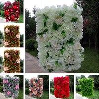 Европейский Дизайн Свадебные украшения цветок стены партия этап фон декоративные пиона и Гортензии цветок ряд разноцветный