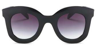 2017 ماركة أزياء مصمم النظارات خمر النظارات الإناث برشام ظلال إطار كبير نمط نظارات 1