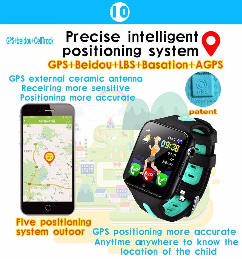 Enfants montre intelligente GPS enfants LBS Location Sport enfant Smartwatch Support étanche carte SIM caméra sécurité téléphone montres bébé - 6