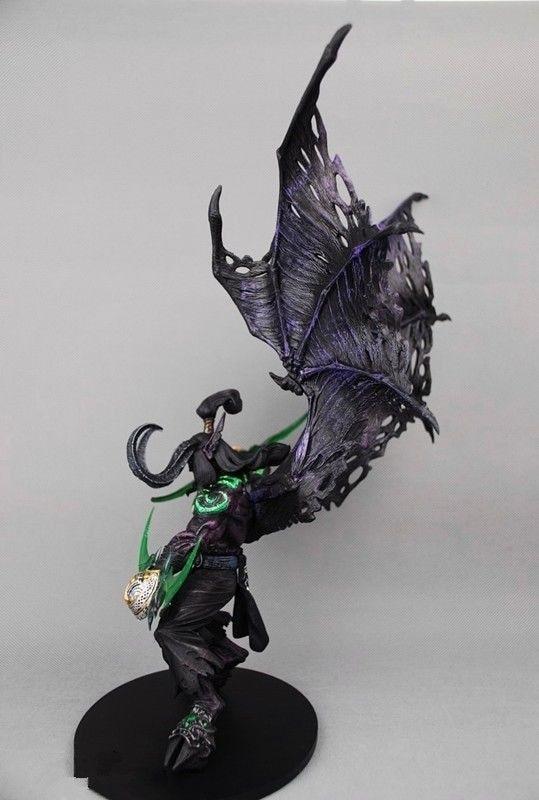 Hot Game WOW Demon Hunter Demon Form illidan Stormrage Statue PVC ...