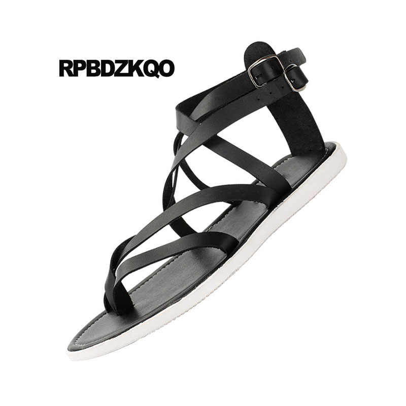 dde673aeaab ... Shoes Fashion Beach Boots Nice Roman Open Toe Strap Flat Men Gladiator  Sandals Summer Italian Breathable ...