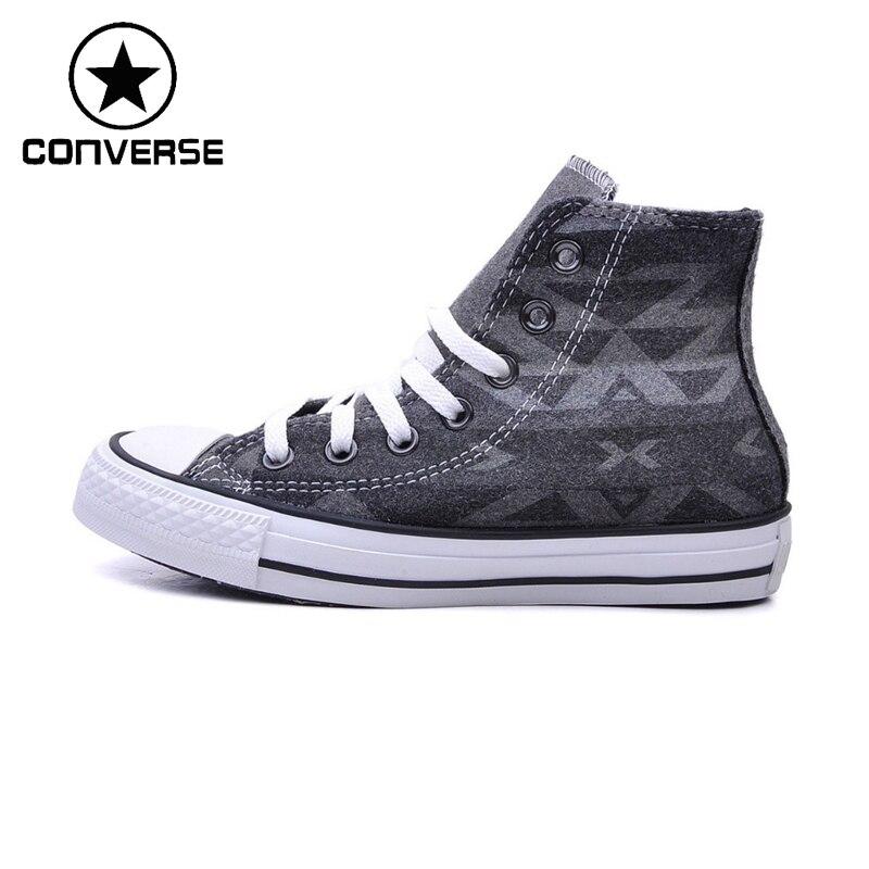 Оригинальные Converse унисекс высокие Обувь для скейтбординга холст Спортивная обувь