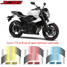 High quality Motorcycle front&Rear Edge Outer Rim Reflective Sticker 17inch Wheel Decals For YAMAHA XJ6 цены онлайн
