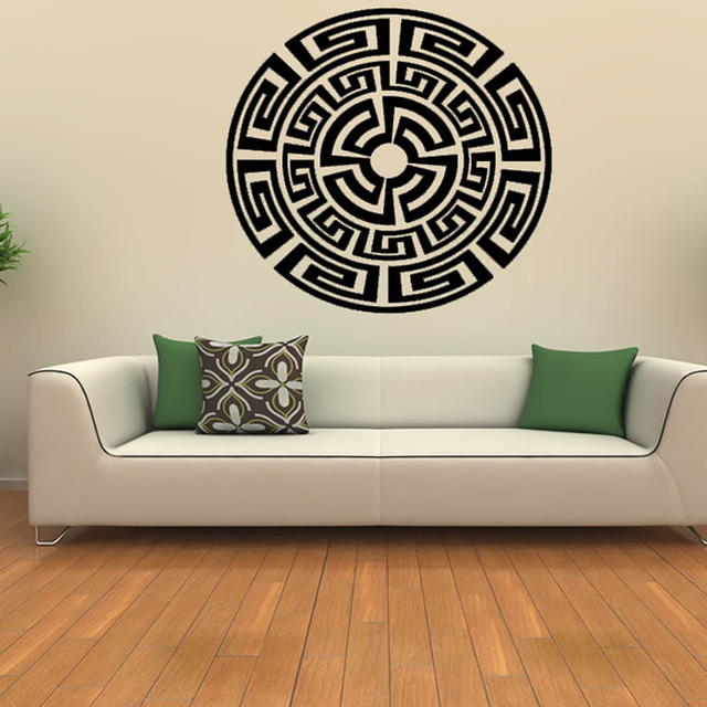 Waterproof Removable Vinyl Art Wall Decal Home Decor Aztec Pattern Sticker For Living Room