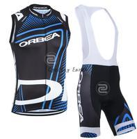 Quick Dry Orbea Sleeveless Cycling Vest Bib Shorts Set Bike Bicycle Wear Clothes Gilet Pants Gel
