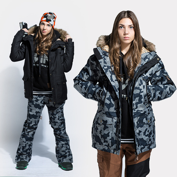 StormRunner winter Jacket women snowboard jacket 2018 new style tartan