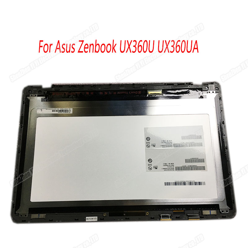 13.3'' LCD Screen For ASUS Zenbook UX360 UX360UA Touch Digitizer Assembly FHD 1920*1080 Display Panel With Frame