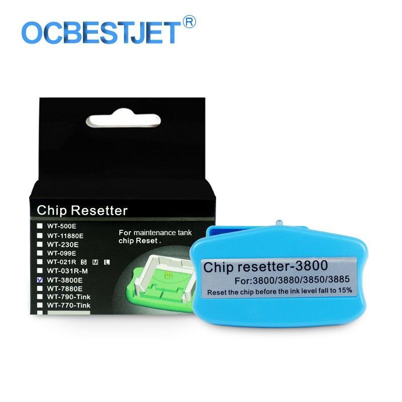 T5820 Chip Resetter Tanque de Tinta de Manutenção Para Epson Stylus Pro 3800 3800C 3850 3880 3890 3885 Manutenção Da Impressora Resetter Chip