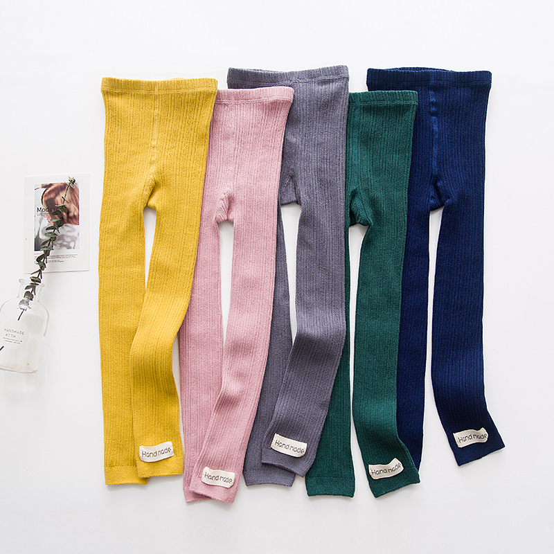 Fall Baby Boys Girls Stocking Kids Tights Toddle Double Needles Solid Color With Woven Band Kids Clothes P558